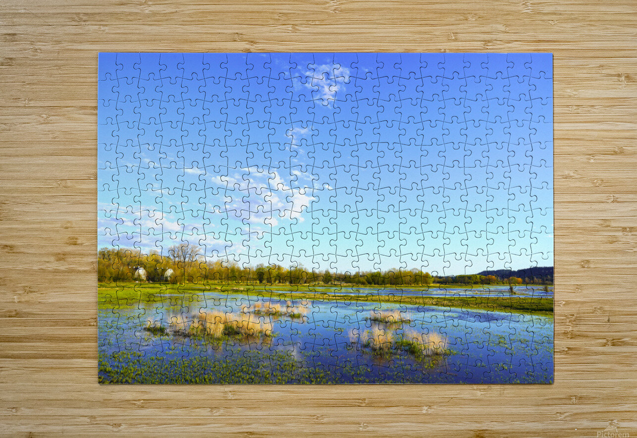 Beautiful Day at the Estuary 2  HD Metal print with Floating Frame on Back