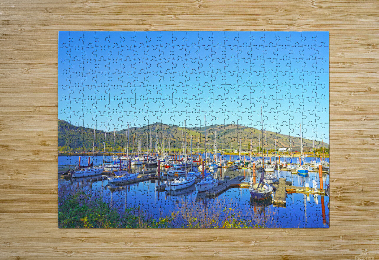 Perfect Day at Hood River Marina   Oregon  HD Metal print with Floating Frame on Back