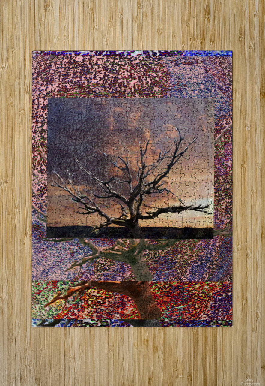 Tree Layers 5  HD Metal print with Floating Frame on Back