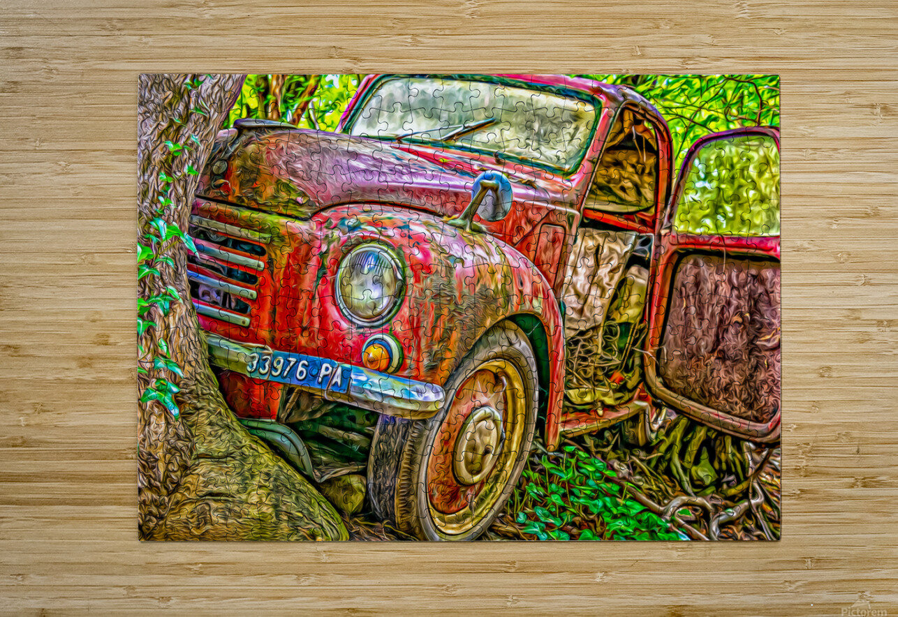 Old Pickup  HD Metal print with Floating Frame on Back