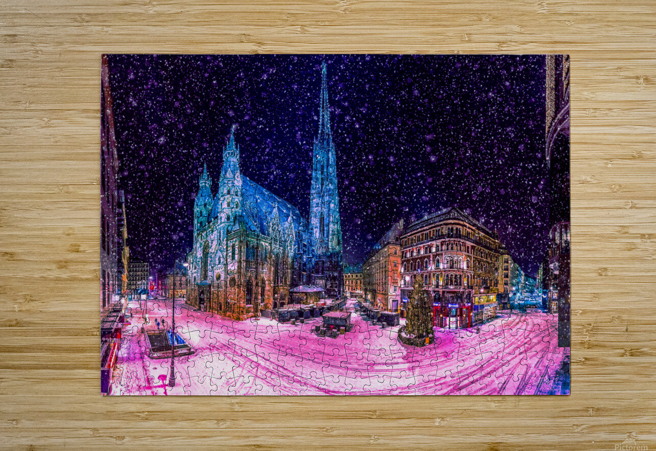 Christmas in Vienna  HD Metal print with Floating Frame on Back