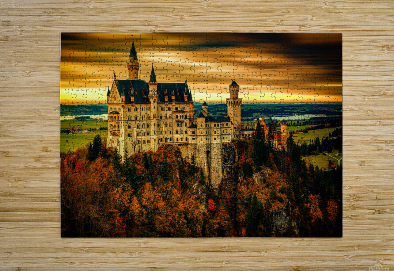 Fairytale Castle  HD Metal print with Floating Frame on Back