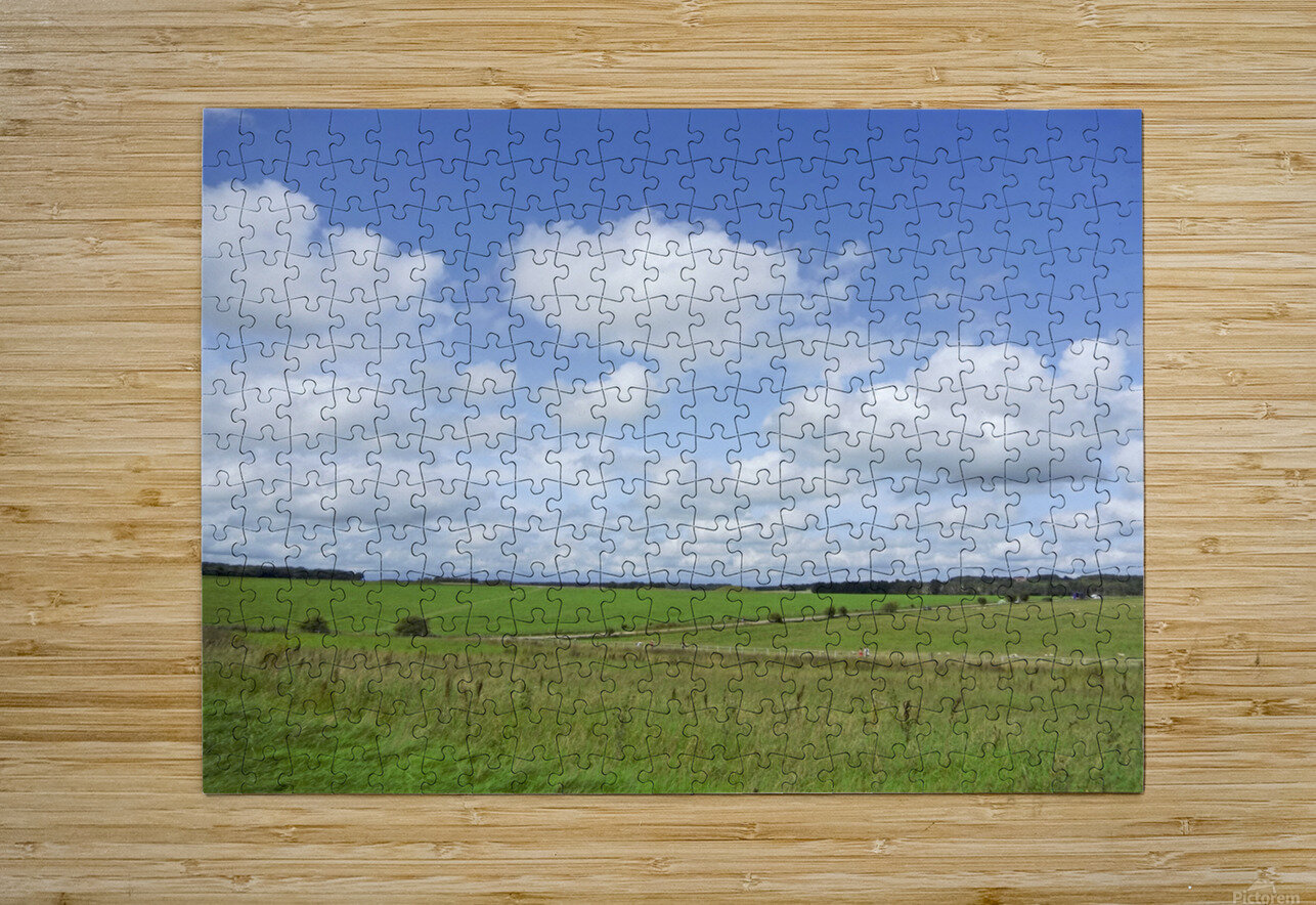 Salisbury Plain on the Road to Stonehenge  HD Metal print with Floating Frame on Back