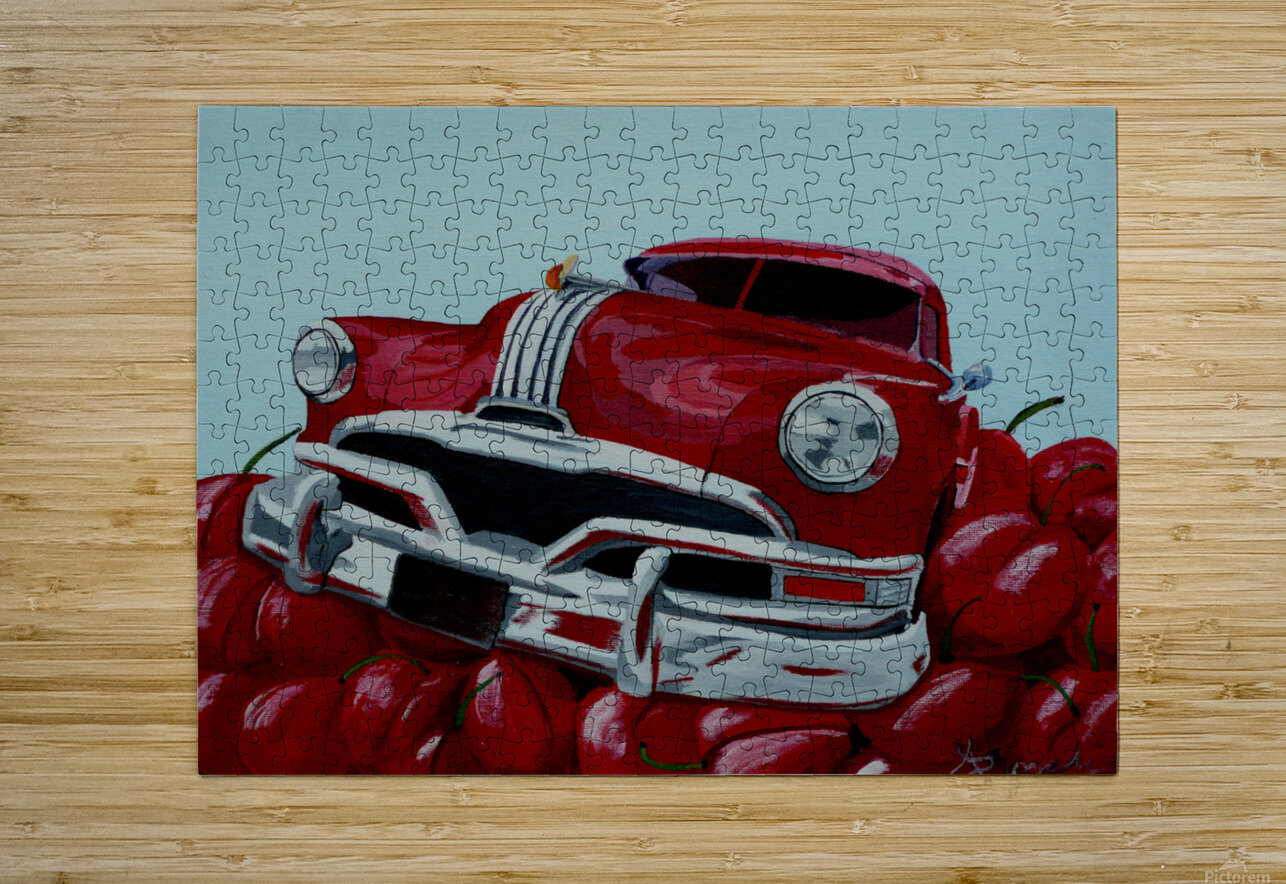 Cherry Ride  HD Metal print with Floating Frame on Back