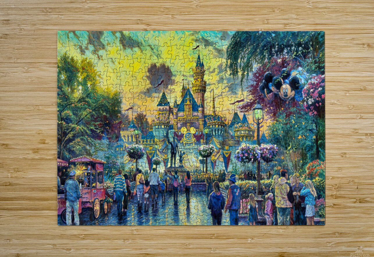 Day At Disney  HD Metal print with Floating Frame on Back