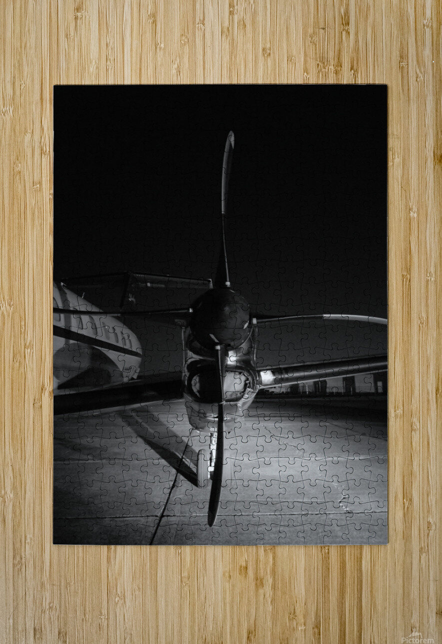 Turbo Prop  HD Metal print with Floating Frame on Back