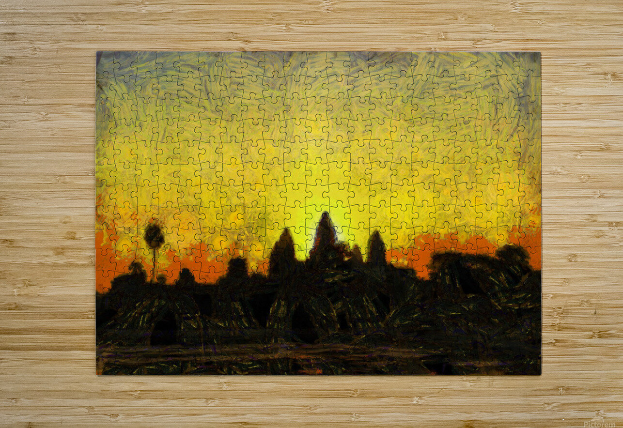 CAMBODIA 136 Angkor Wat  Siem Reap VincentHD  HD Metal print with Floating Frame on Back