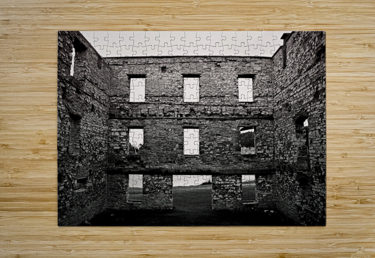 Stone Structure  HD Metal print with Floating Frame on Back