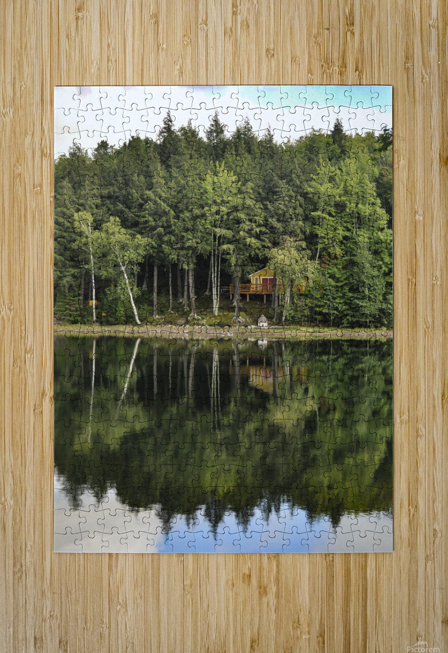 The Reflection  HD Metal print with Floating Frame on Back