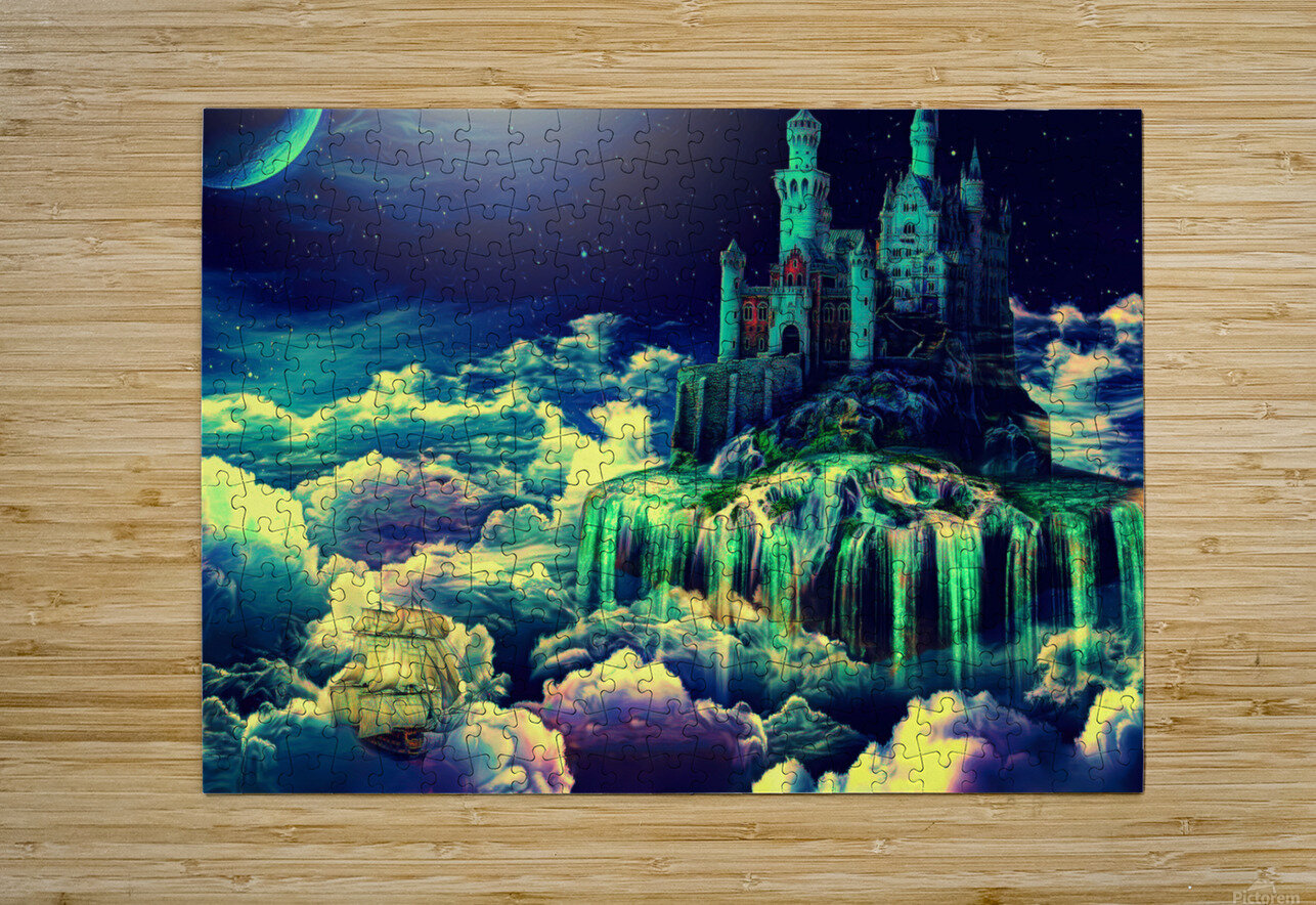 Castle In The Clouds  HD Metal print with Floating Frame on Back