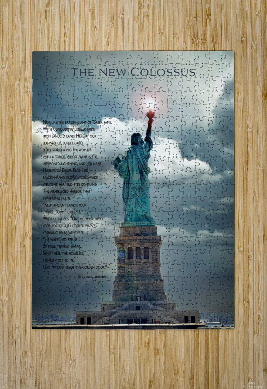New Colossus  HD Metal print with Floating Frame on Back
