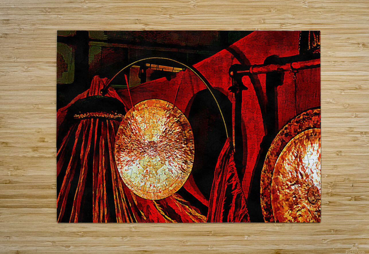 Energy Of Gongs  HD Metal print with Floating Frame on Back