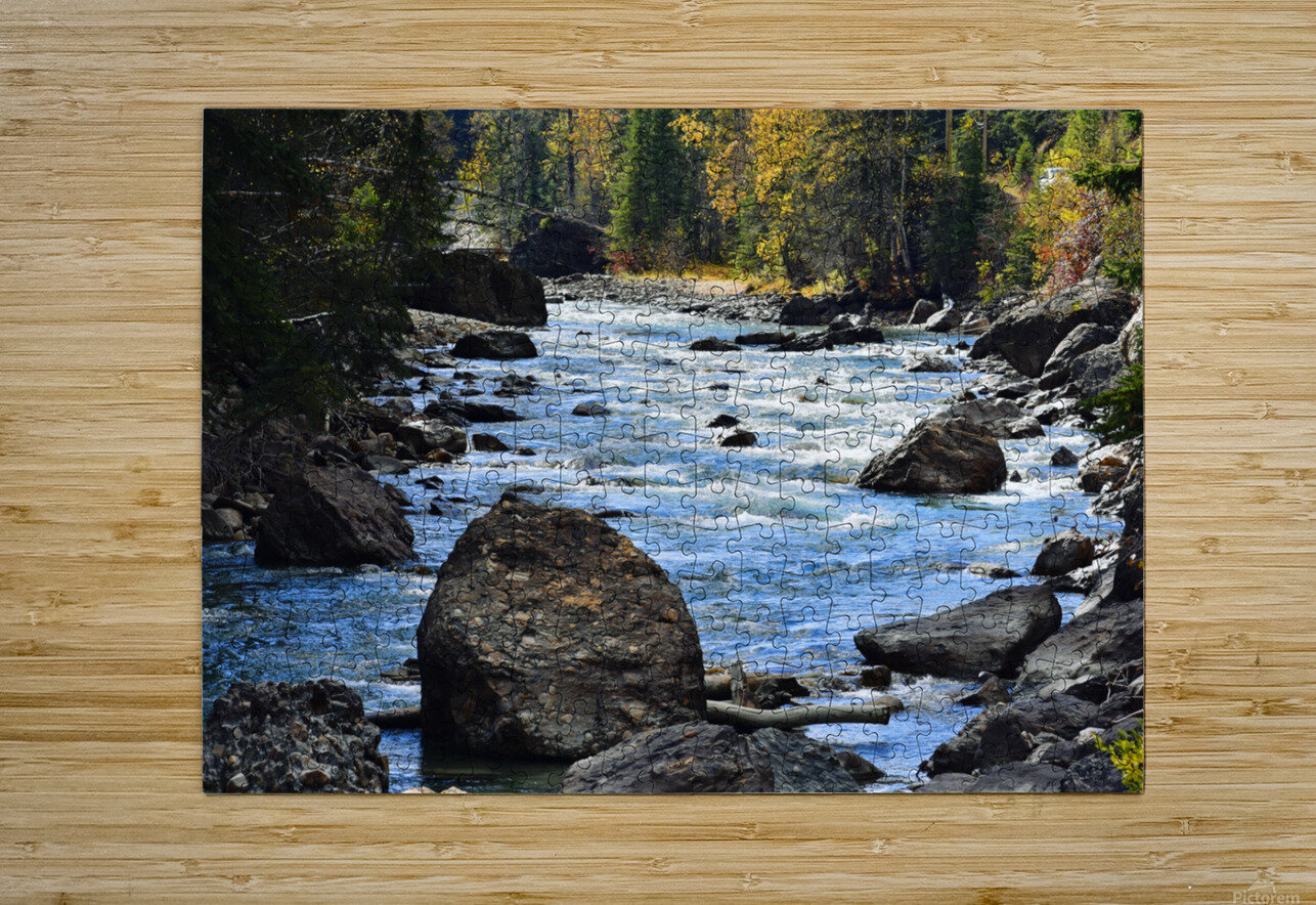 Babbling Brook  HD Metal print with Floating Frame on Back