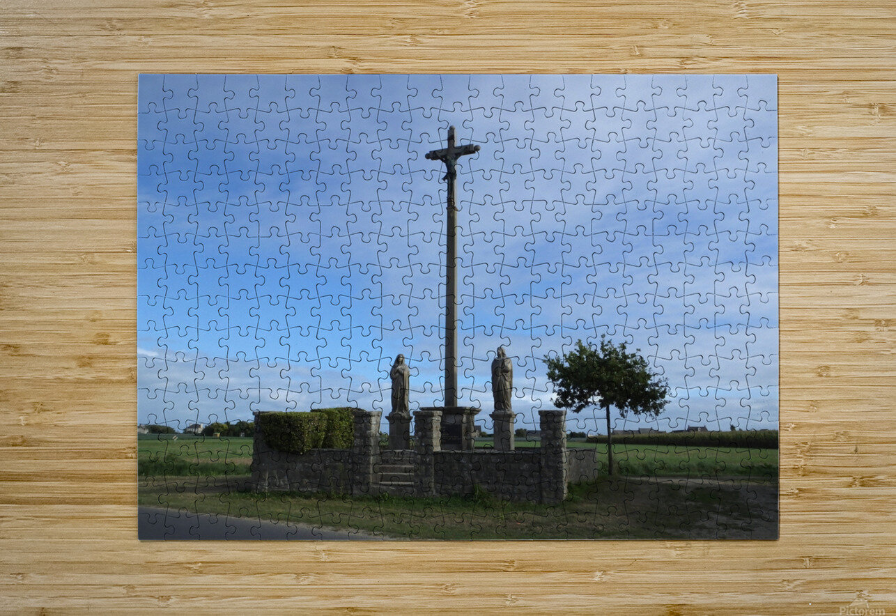 a la crois  e des chemins at the crossroads  HD Metal print with Floating Frame on Back
