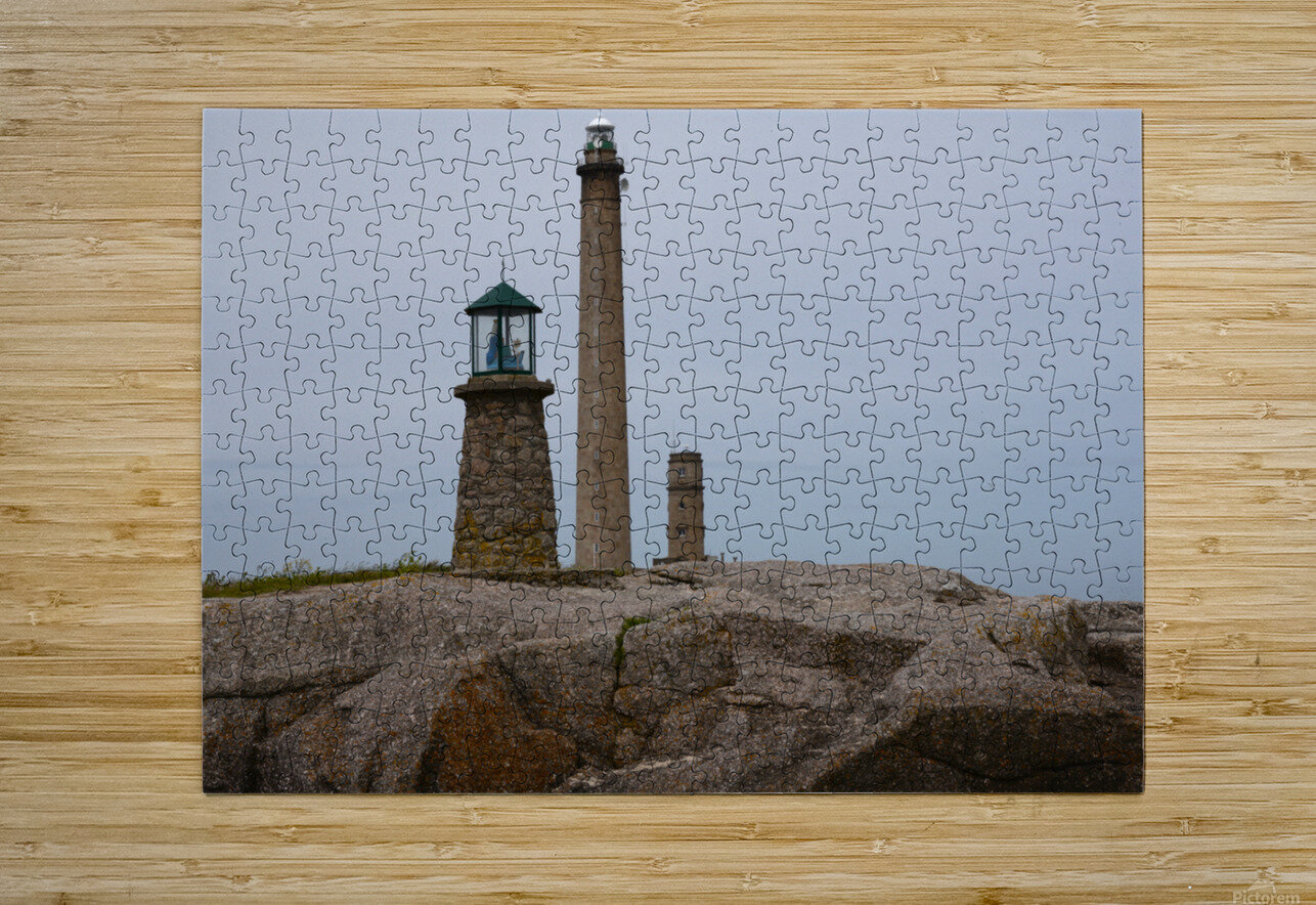 Architecture marine Light house  HD Metal print with Floating Frame on Back