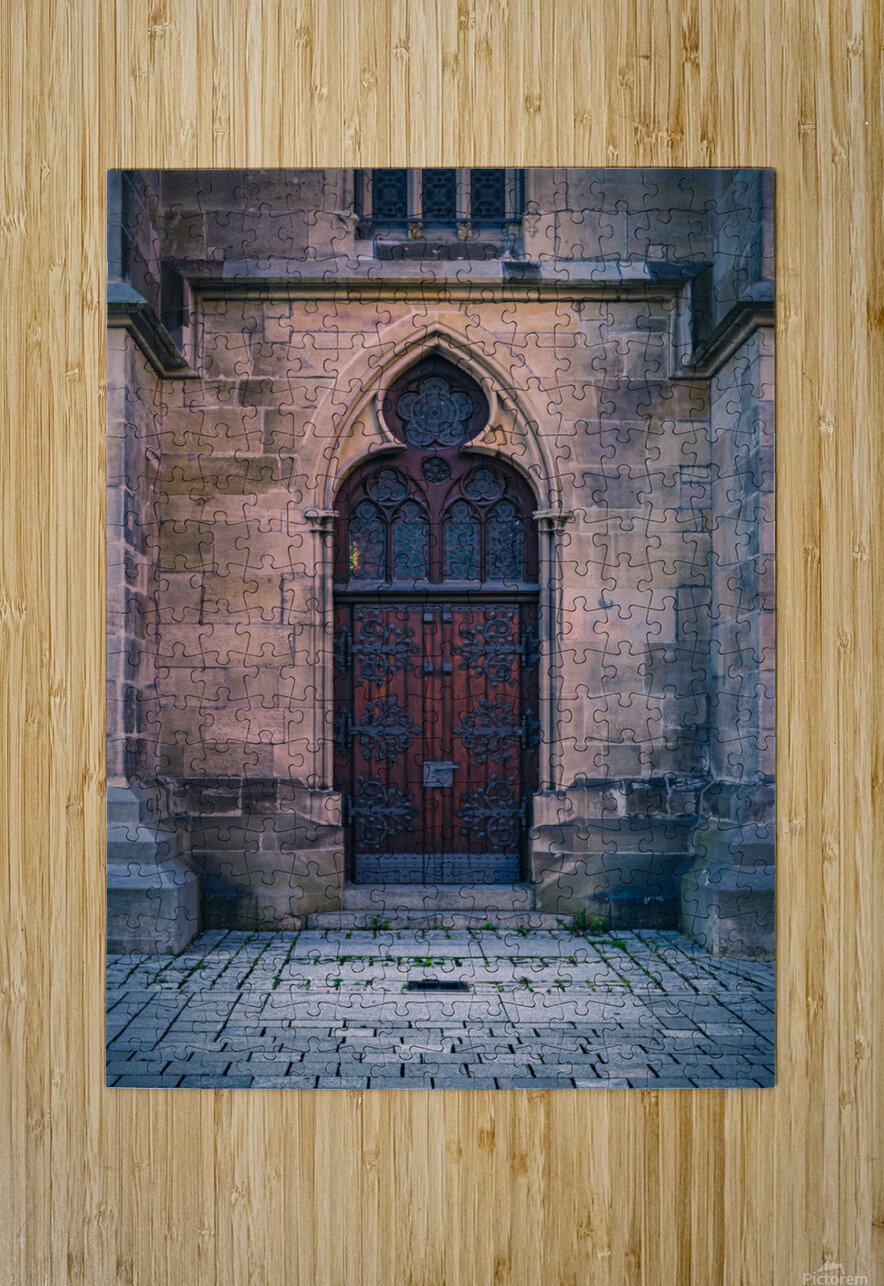Gothic entrance  HD Metal print with Floating Frame on Back