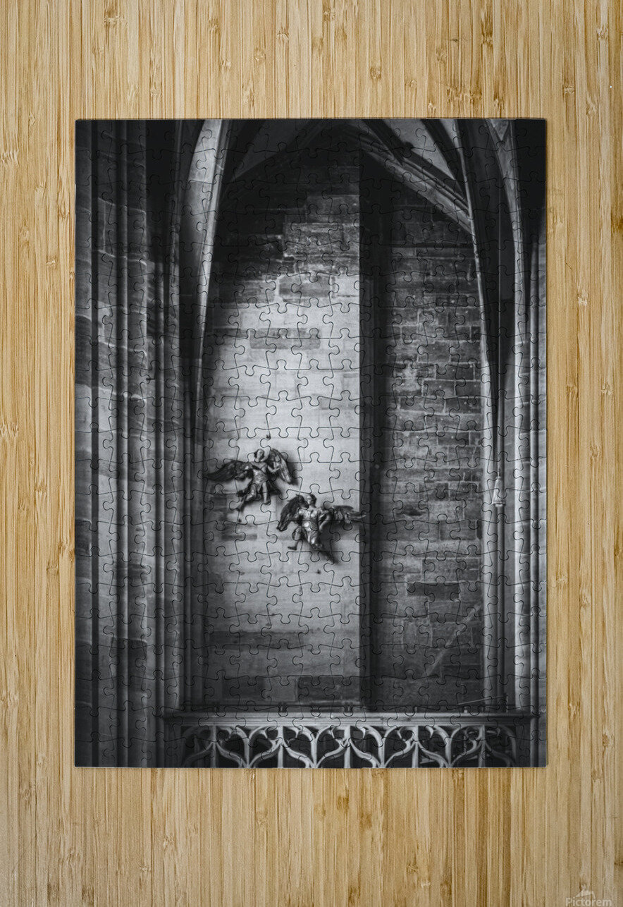 Gothic angels  HD Metal print with Floating Frame on Back