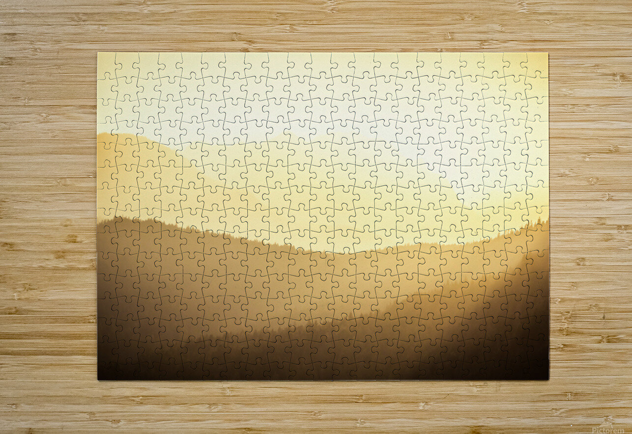 Mountain sunrise  HD Metal print with Floating Frame on Back