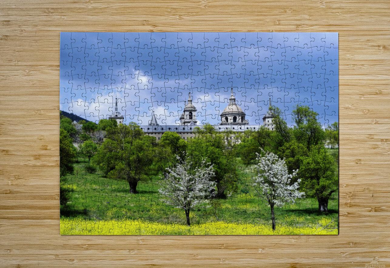 Casita del Principe 5 of 7 - Park and Gardens - The Royal Monastery of San Lorenzo de El Escorial - Madrid Spain  HD Metal print with Floating Frame on Back