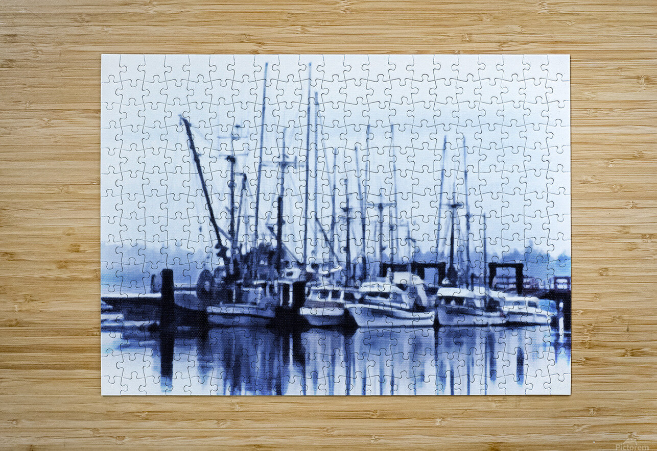 Fishers Wharf  HD Metal print with Floating Frame on Back