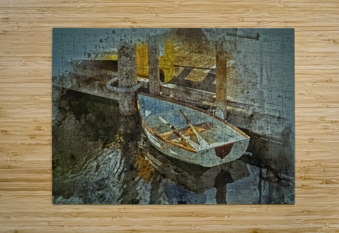 Rowboat  HD Metal print with Floating Frame on Back