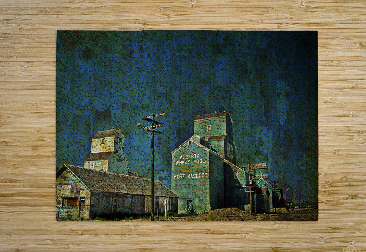 Wheat Pool  HD Metal print with Floating Frame on Back