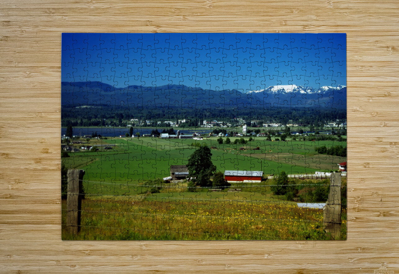 Comox Valley Thirty Years Ago  HD Metal print with Floating Frame on Back