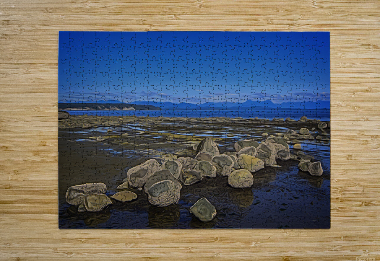 Boulders at Low Tide  HD Metal print with Floating Frame on Back