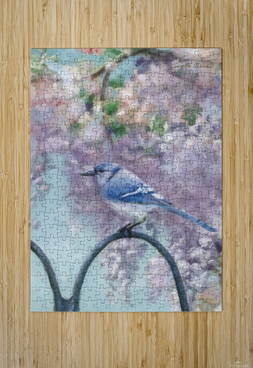 Garden bird  HD Metal print with Floating Frame on Back