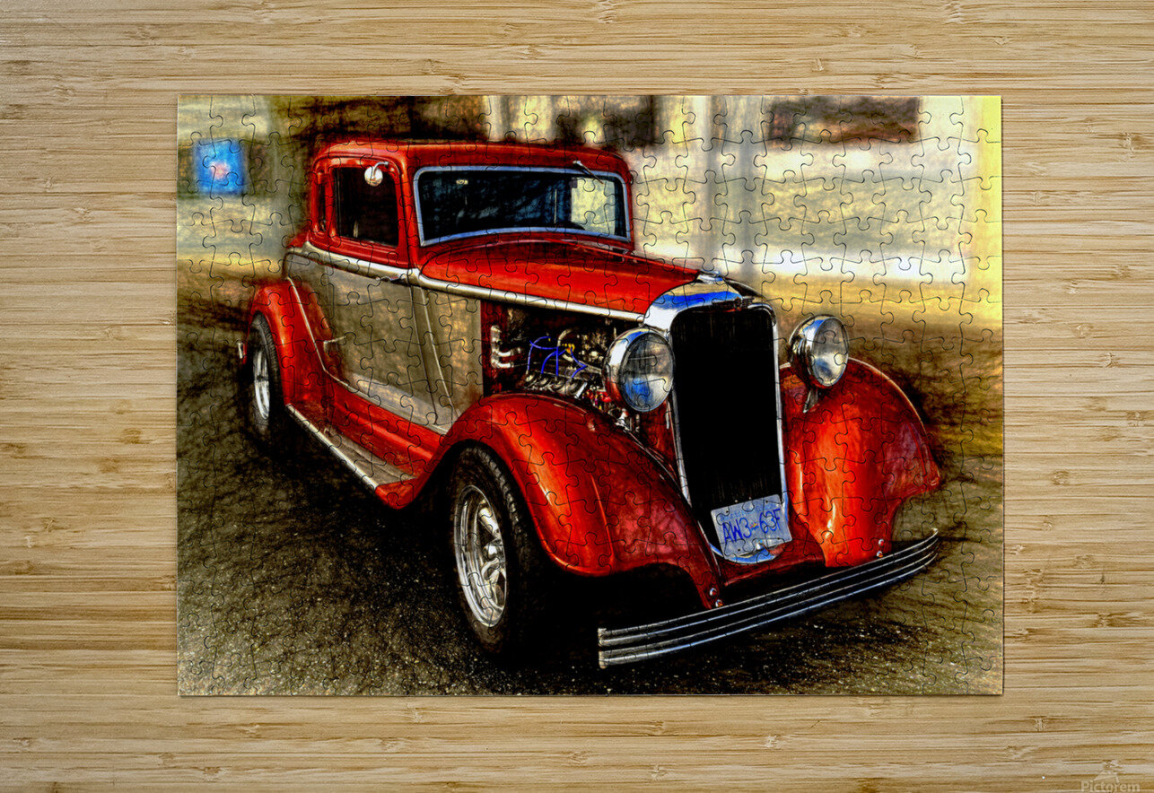 1933 Dodge Coupe  HD Metal print with Floating Frame on Back