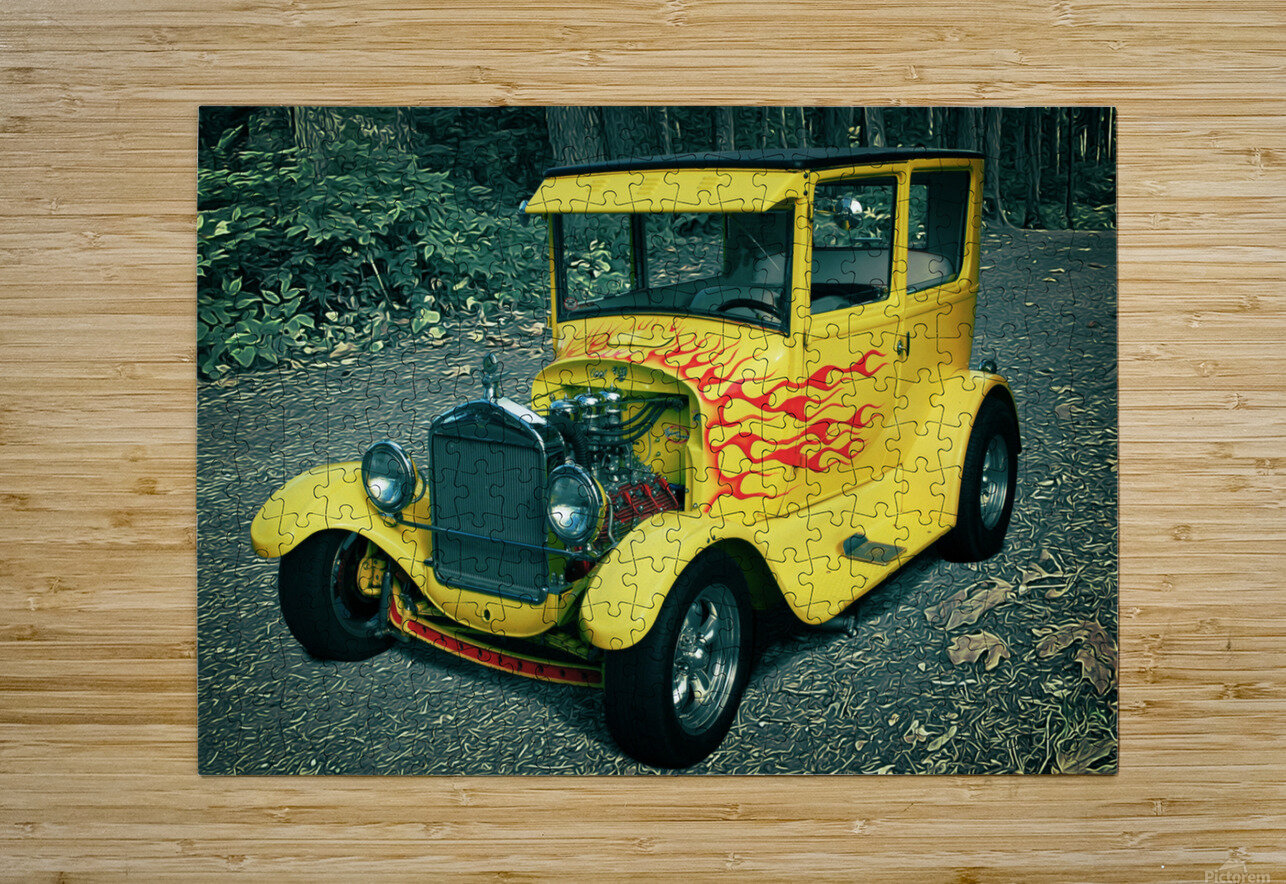 1927 Ford Model-T  HD Metal print with Floating Frame on Back