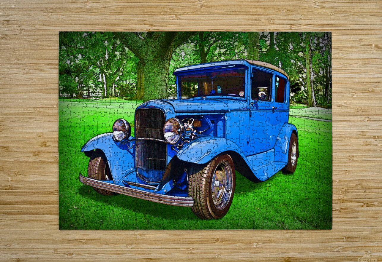 1930 Ford  HD Metal print with Floating Frame on Back