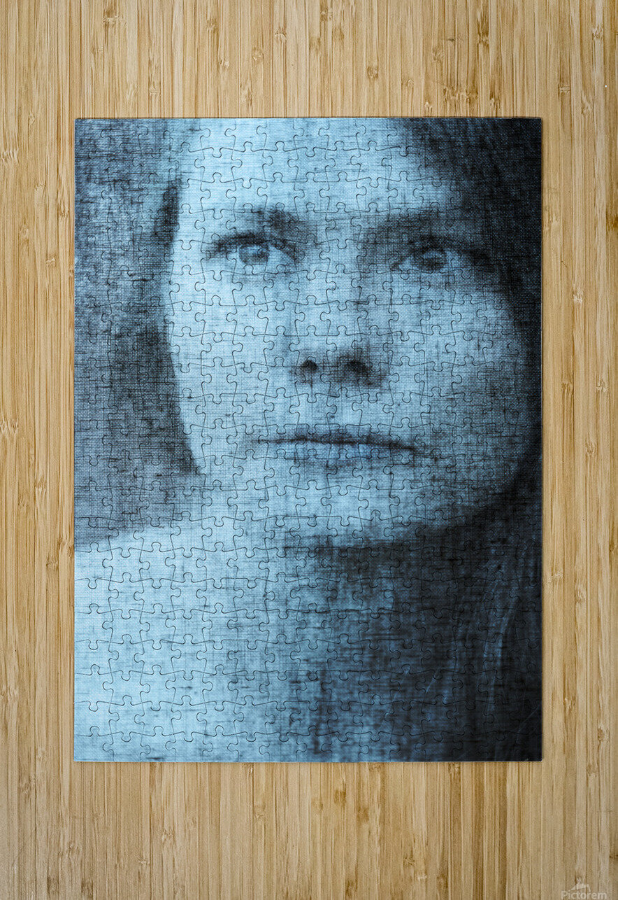 Un regard bleu - A Blue Gaze  HD Metal print with Floating Frame on Back