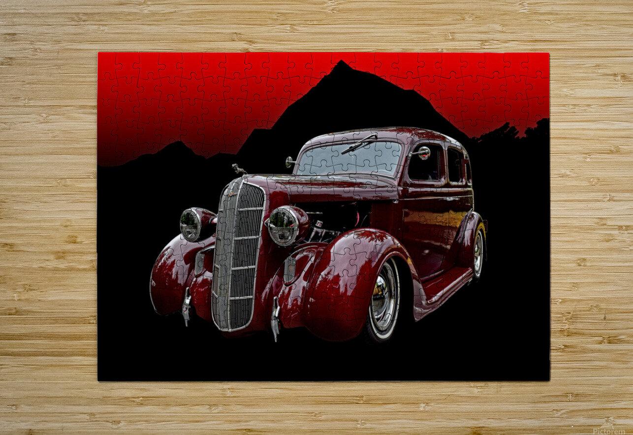 1936 Dodge 4-Door Sedan  HD Metal print with Floating Frame on Back