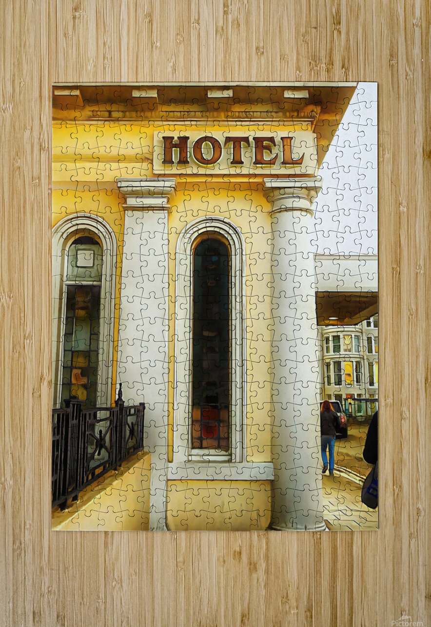 Royal Albion Hotel Brighton Entrance  HD Metal print with Floating Frame on Back