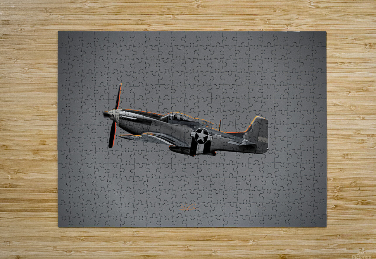 P-51 Orange Super Limited Edition 10 Prints only  HD Metal print with Floating Frame on Back
