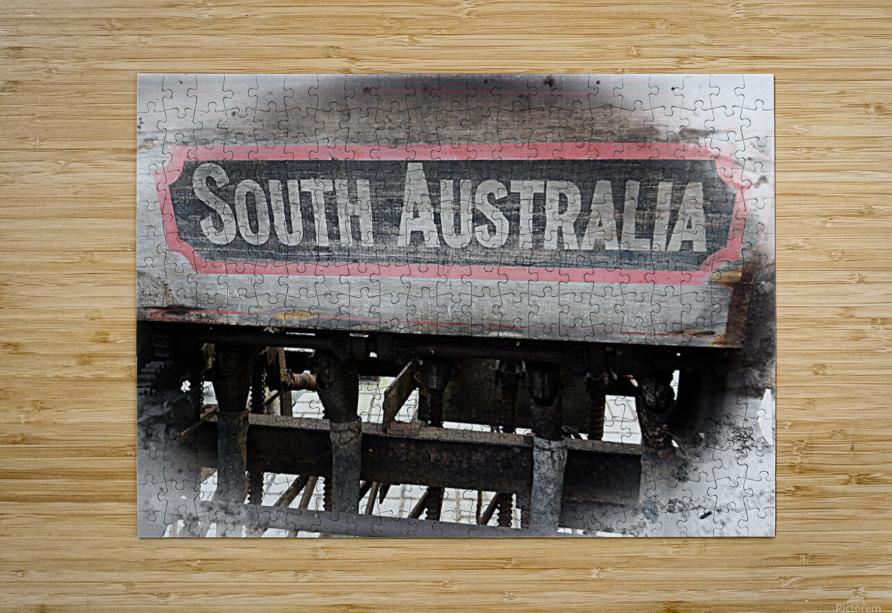 South Australia Sign  HD Metal print with Floating Frame on Back