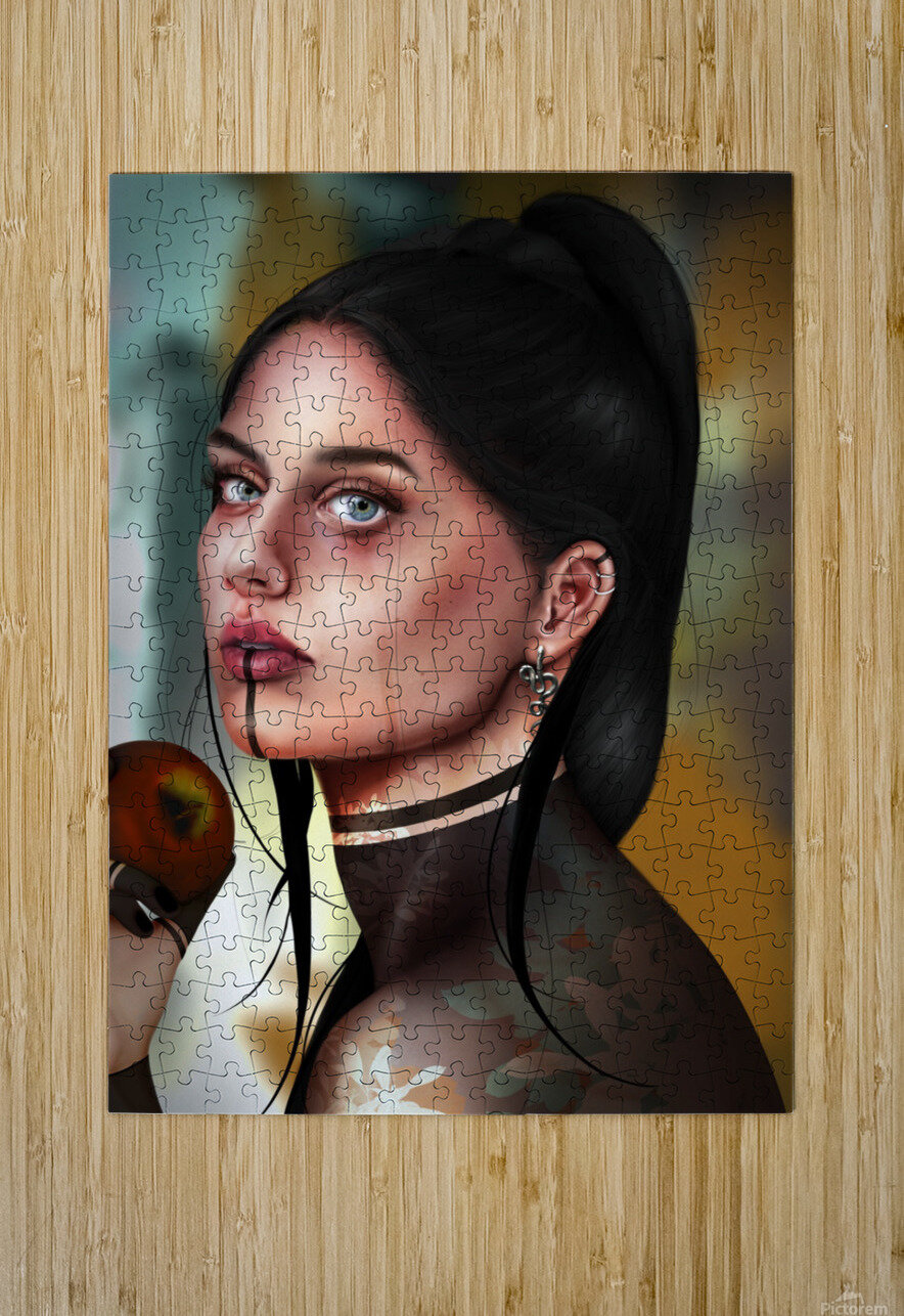 Eves apple  HD Metal print with Floating Frame on Back