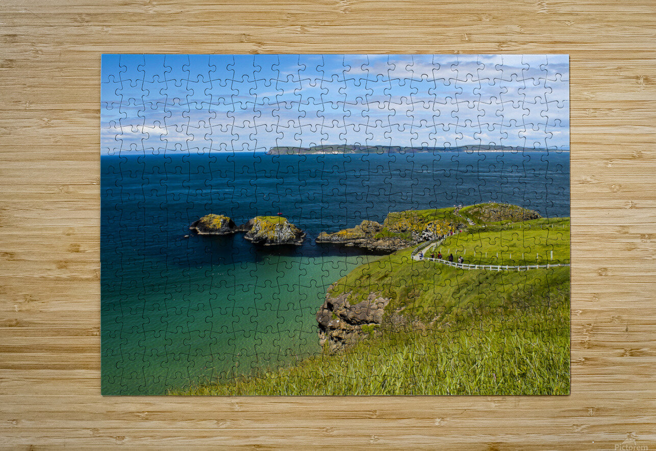 Northern Ireland Coast View  HD Metal print with Floating Frame on Back