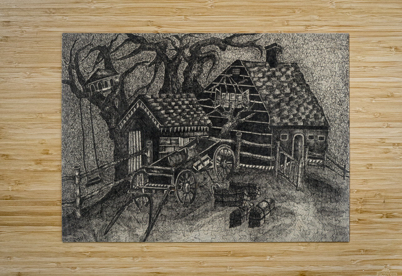 RA 013 - בית בכפר -  house in the village  HD Metal print with Floating Frame on Back