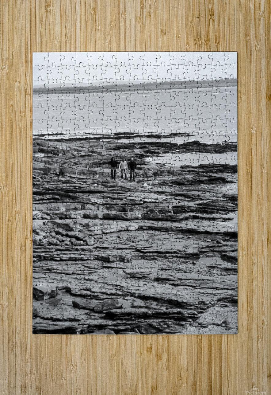 Over Rocks  HD Metal print with Floating Frame on Back