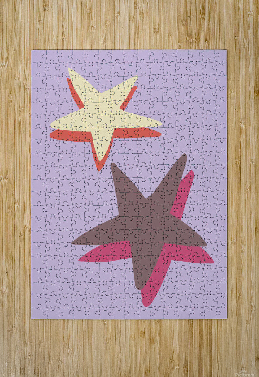 Lilac Star  HD Metal print with Floating Frame on Back
