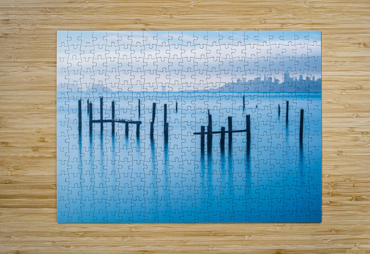 The Old Pier of Sausalito  HD Metal print with Floating Frame on Back