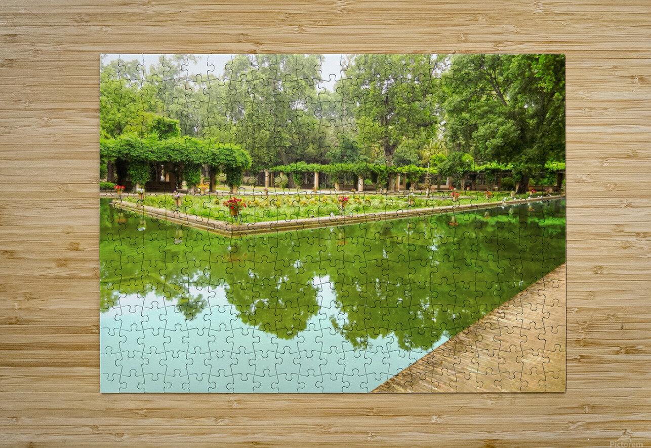Lotos Pond - Estanque de Los Lotos - Parque de Maria Luisa - Seville Spain  HD Metal print with Floating Frame on Back