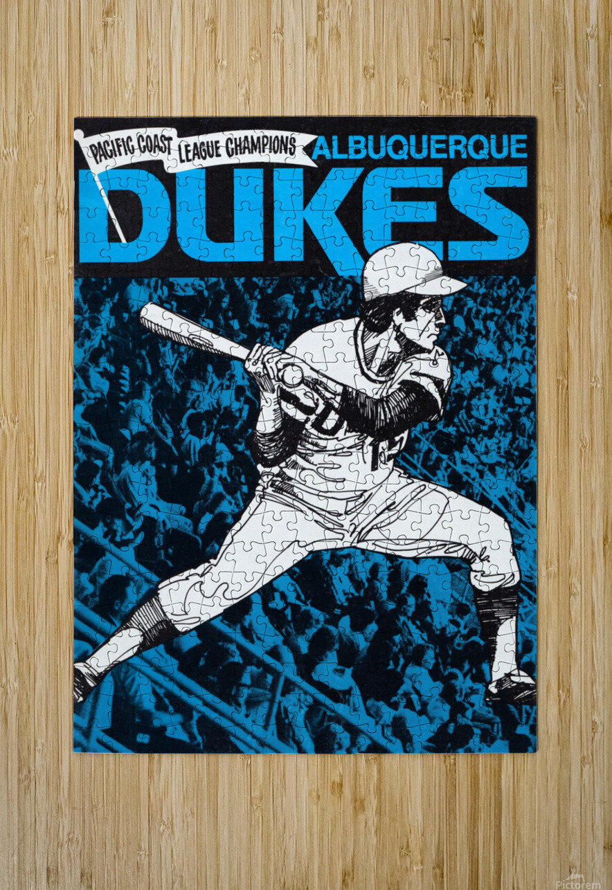 1973 Albuquerque Dukes Baseball  Poster  HD Metal print with Floating Frame on Back