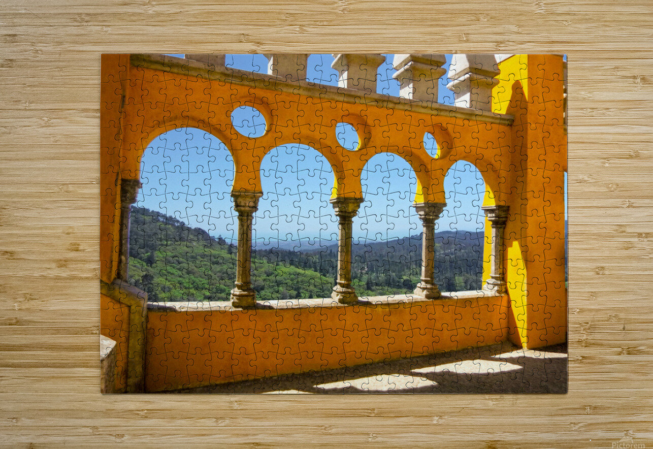 Shadows and Sunlight - Palace of Pena - Sintra Portugal  HD Metal print with Floating Frame on Back
