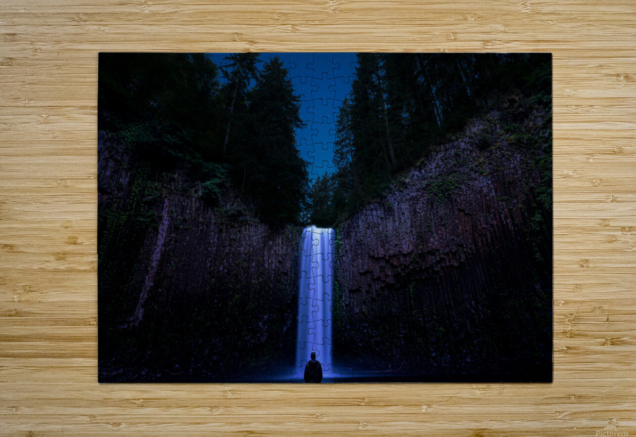 Abiqua Falls  HD Metal print with Floating Frame on Back