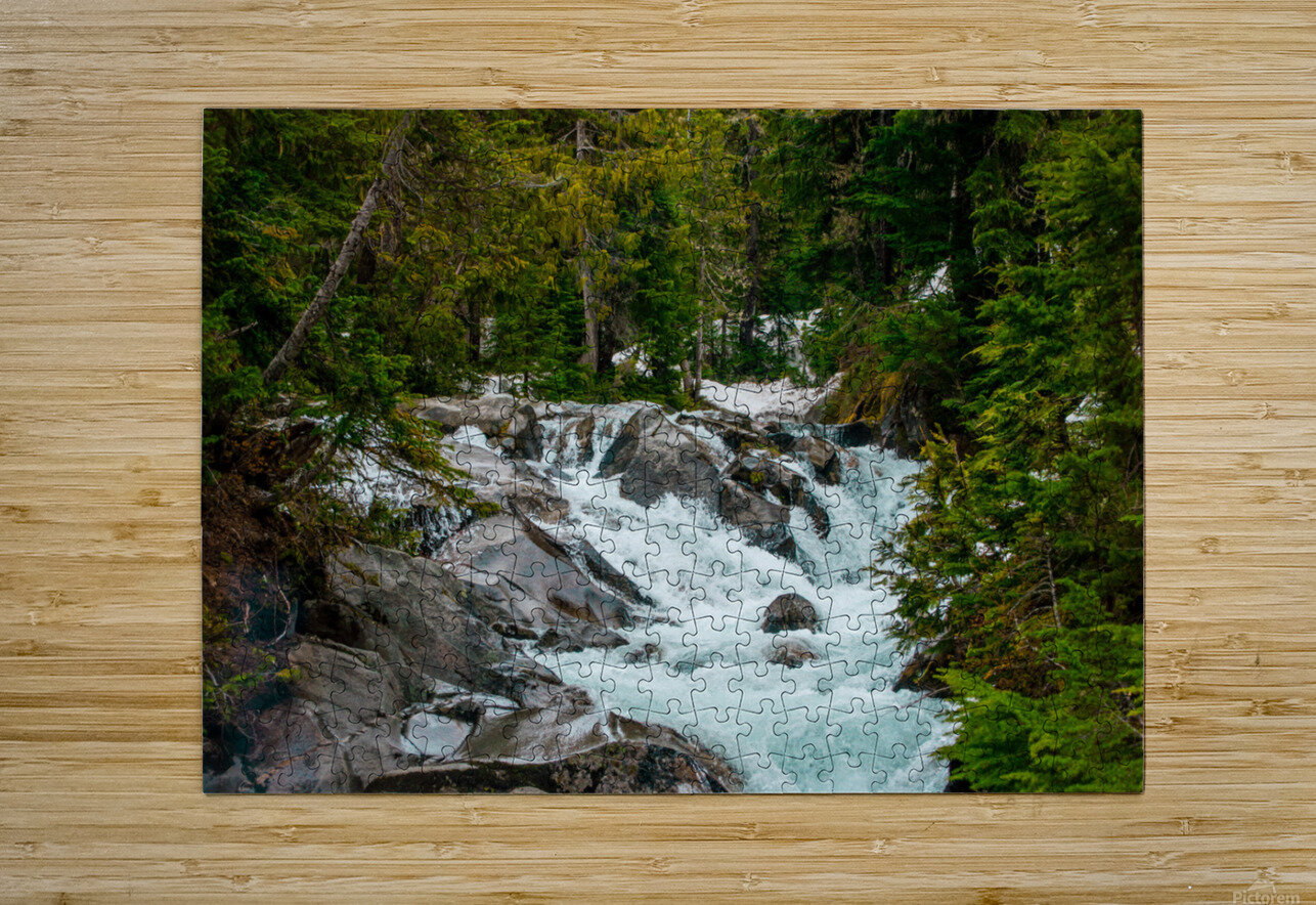 Wild Water in the Mountains  HD Metal print with Floating Frame on Back