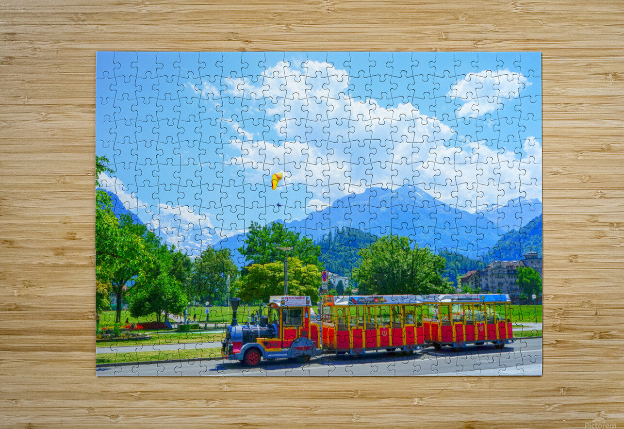One Day in Interlaken Switzerland 2 of 3  HD Metal print with Floating Frame on Back