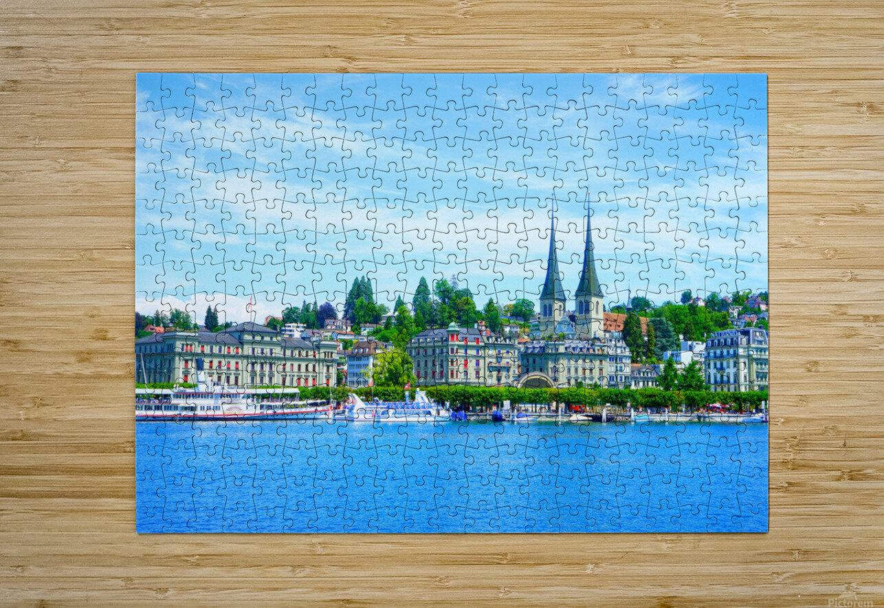 Waterfront   Lucerne Switzerland 1 of 3  HD Metal print with Floating Frame on Back
